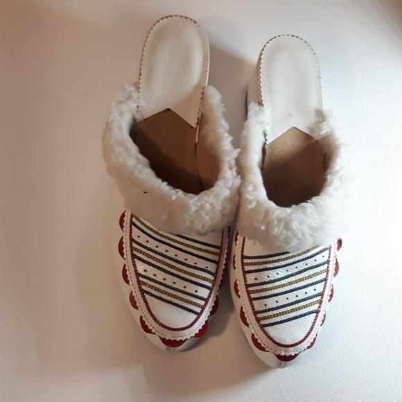 Rukotvorine hand paint leather shoes Size 9.5